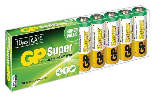 GP AA Super, alkalická - 10 ks, fólie