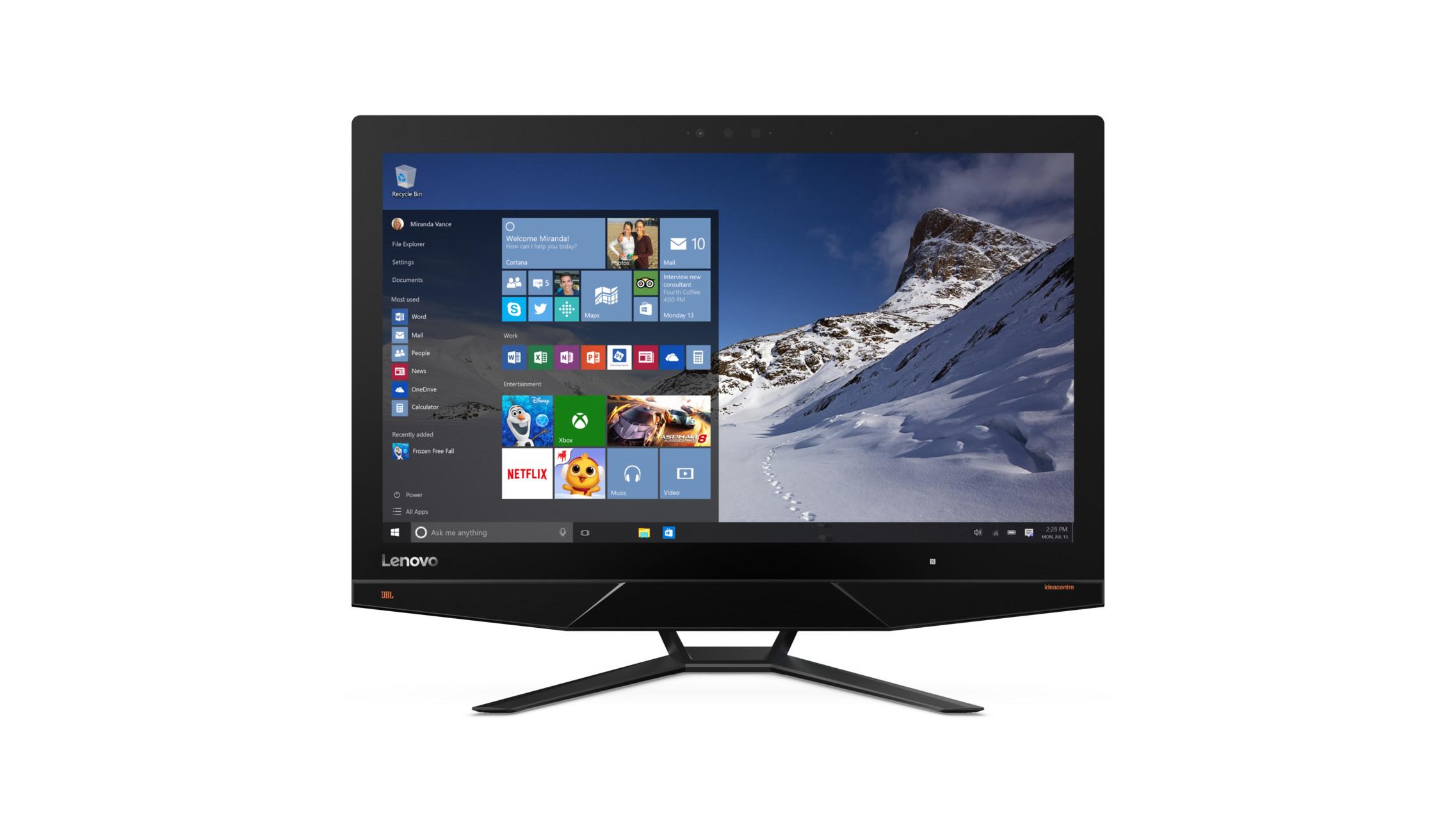 """AIO 700 24""""FHD/A10-7800/1TB/8G/DVD/AMD/W 10 black"""