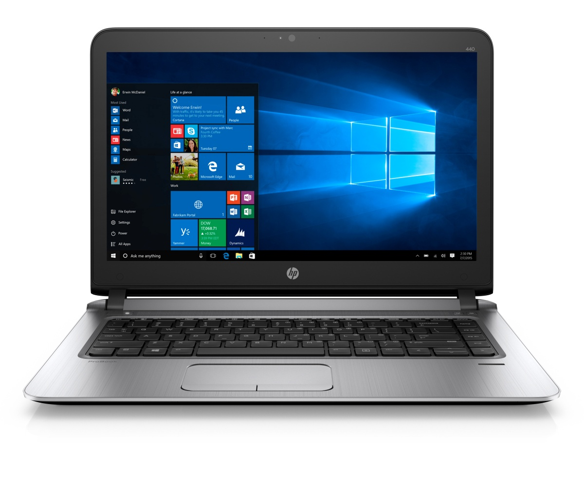 HP ProBook 440 G3 i5-6200U/4GB/256GB SSD+slot 2,5''/14'' FHD/Backlit kbd, Win 10 Pro downg W7P
