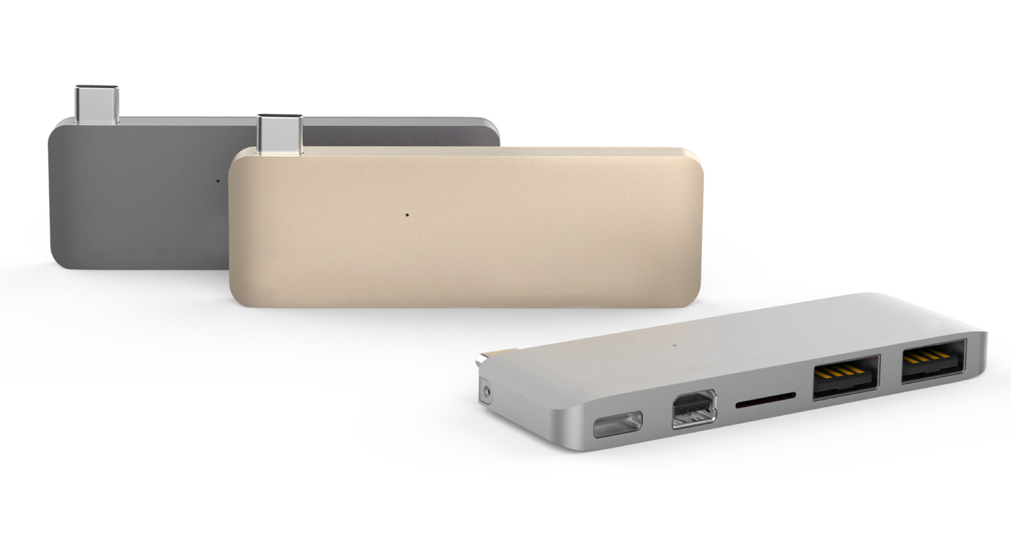 Hyper USB-C 5v1 adapter kit - stříbrný