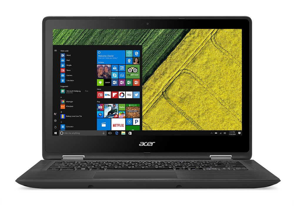 "Acer Spin 5 (SP513-51-55BJ) i5-7200U/8GB+N/256GB SSD M.2+N/HD Graphics/13.3"" Multi-touch FHD/BT/W10 Home/Black"