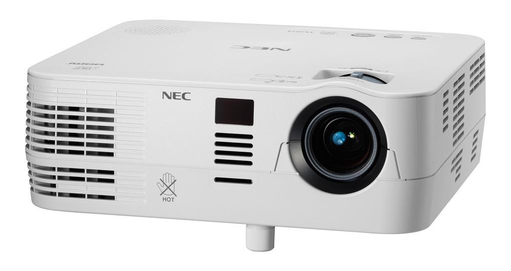 NEC Projektor DLP VE281X XGA (1024x768,2800 ANSI lumens,3000:1) 3D READY,lampa 6000 hod v ECO,HDMI,VGA