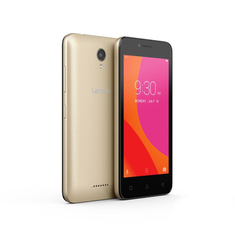 "Lenovo Smartphone B Dual SIM/4,5"" TN/854x480/Quad-Core/1,0GHz/1GB/8GB/5Mpx/LTE/Android 6.0/Gold"