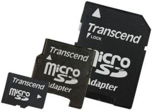 Transcend Micro SD karta 2GB + 2 Adaptéry (miniSD & SD)