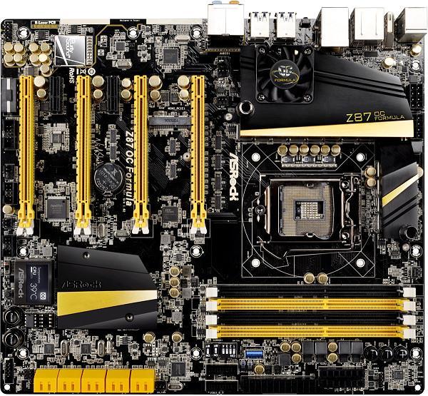 ASRock Z87 OC FORMULA, Z87, DualDDR3-1600, SATA3, RAID, E-ATX