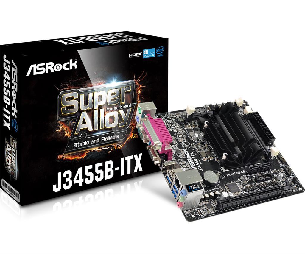 ASRock J3455B-ITX DDR3/DDR3L 1866 SO-DIMM, 2xSATA3, 5 USB 3.0
