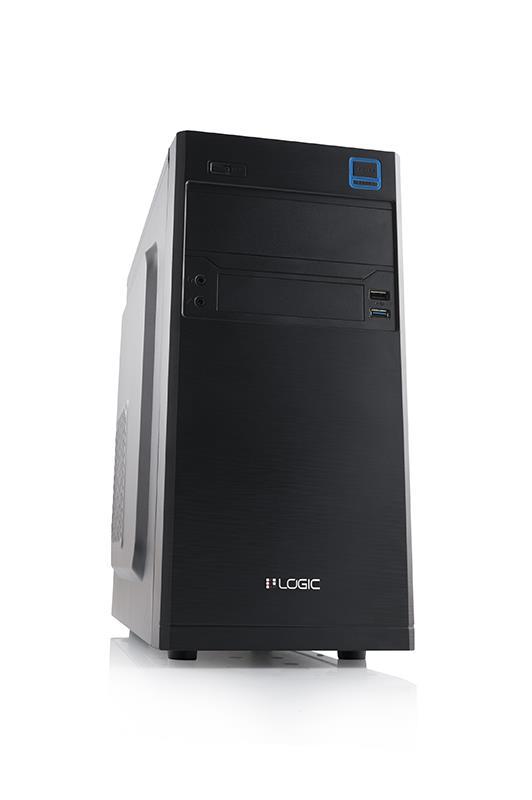 LOGIC PC skříň M4 MiniTower, zdroj LOGIC 400W ATX PFC, USB 3.0