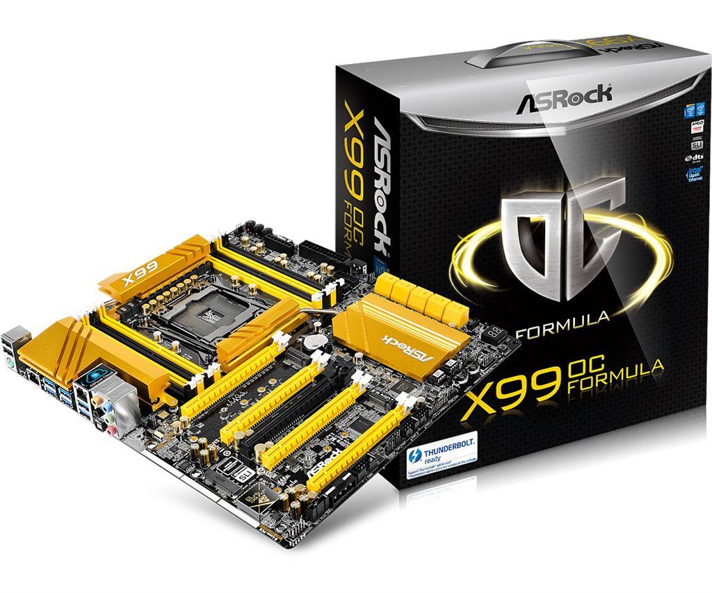 ASRock X99 OC FORMULA, X99, QuadlDDR4-2133, SATA3, M.2, RAID, E-ATX