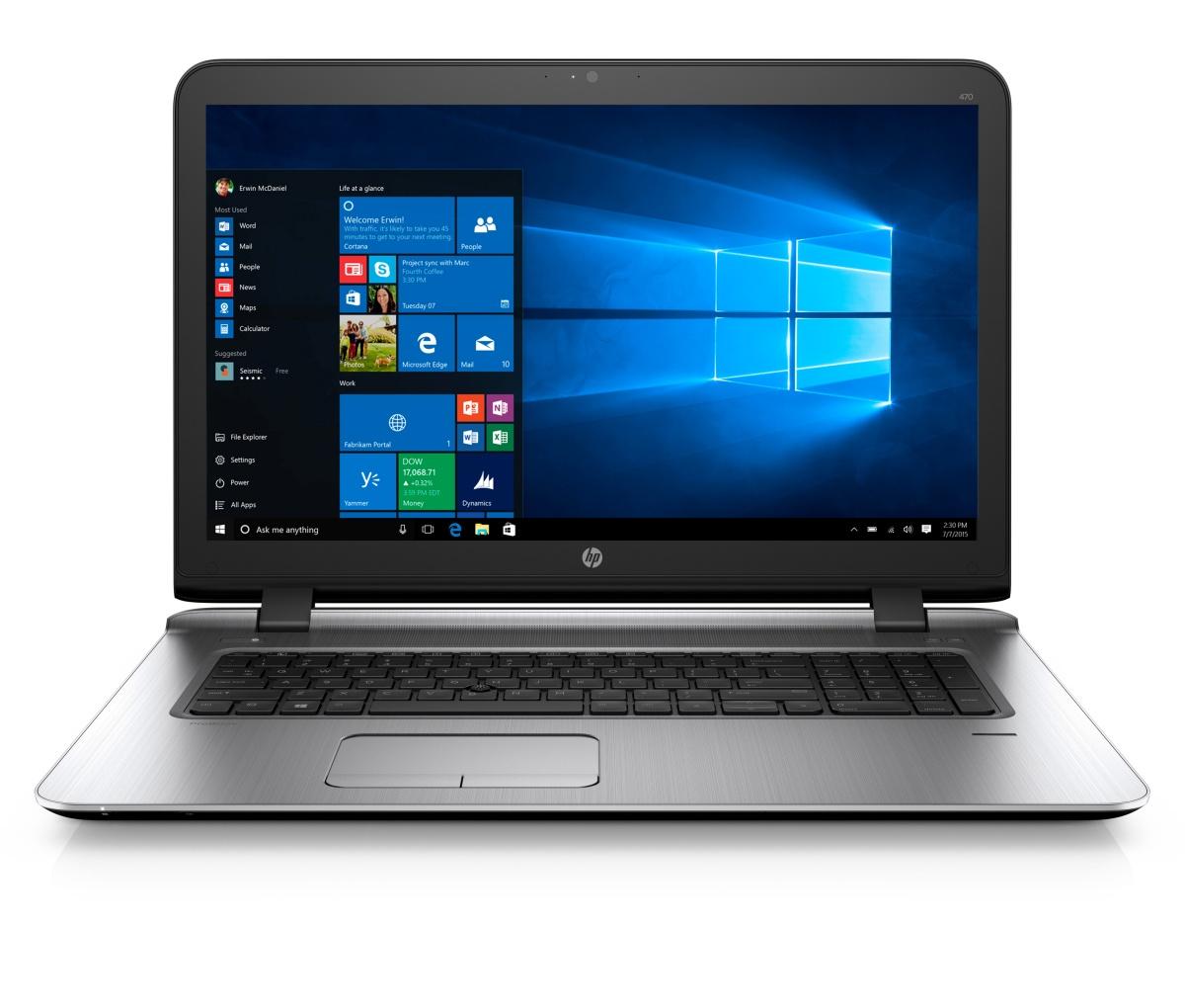 HP ProBook 470 G3 i5-6200U/4GB/256GB SSD + volný slot 2,5''/AMDR7M340/2G/17,3'' FHD/Win 10 Pro + Win 7 Pro