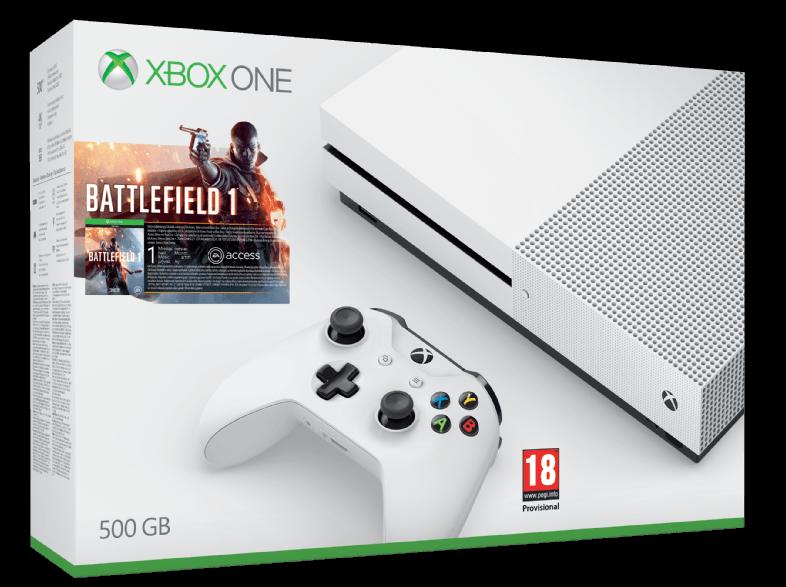 Microsoft Xbox One S 500GB + Battlefield 1 + 6M live