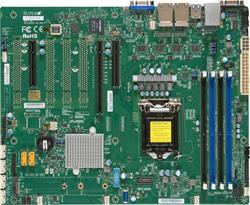 SUPERMICRO MB 1xLGA1151, iC236,DDR4,6xSATA3,PCIe 3.0 (1 x8, 1 x8 (in x16), 1 x4 (in x8)), 1x M.2 NGFF, 4xLAN, IPMI (blk)