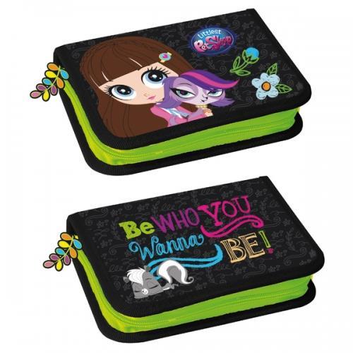 Pencil Case, 2 compartments Littlest Pet Shop II 12/48