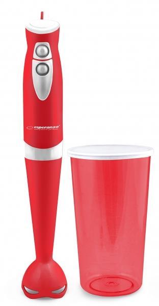 Esperanza EKM006R GELATO tyčový mixér s nádobou, červený