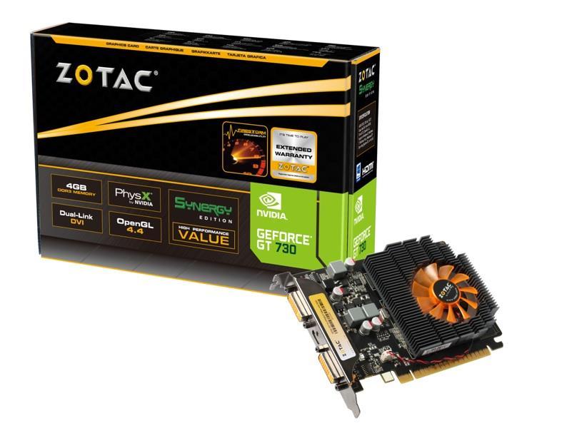 ZOTAC GeForce GT 730 Synergy Edition, 4GB DDR3 (128 Bit), 2xDVI, miniHDMI
