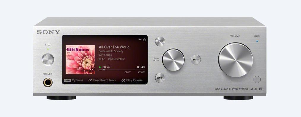 Sony audio systém HAP-S1, 500GB HDD, 2x40W stříbr.