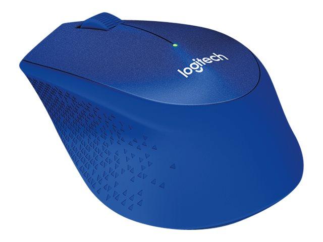 Logitech myš M330 Silent Plus, optická, bezdrátová, 3 tlačítka, 1000dpi - modrá