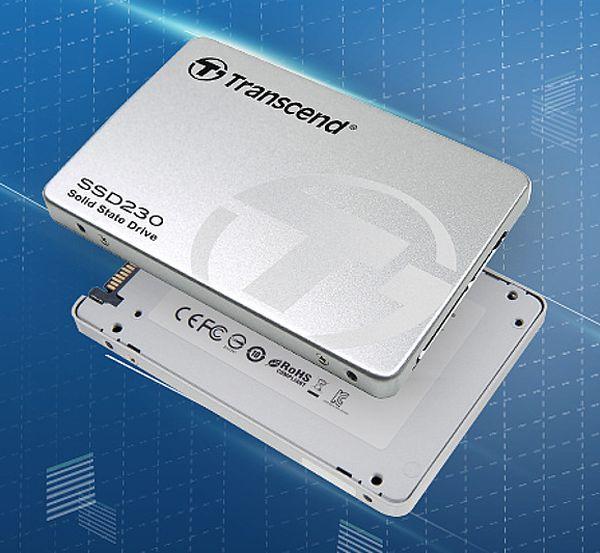 TRANSCEND SSD230S 128GB SSD disk 2.5'' SATA III, 3D TLC, Aluminium casing, stříbrný