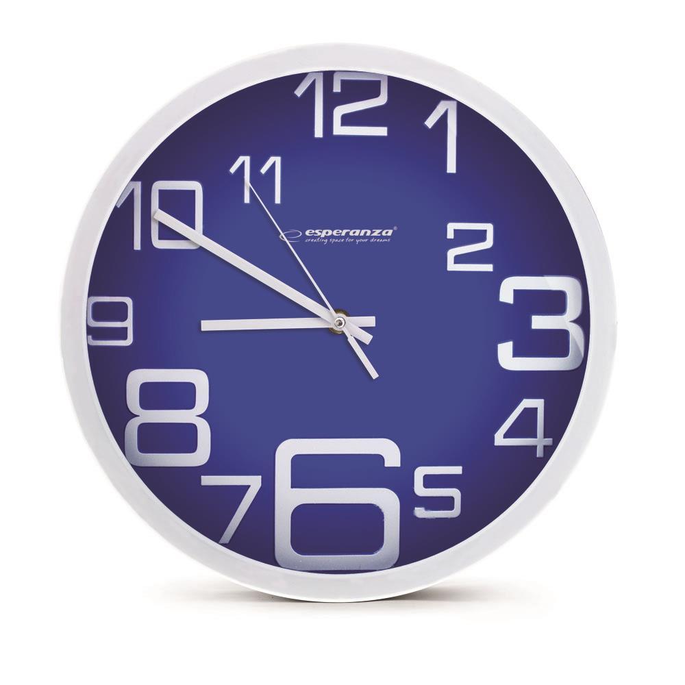 Esperanza EHC017B MILAN nástěnné hodiny, modré