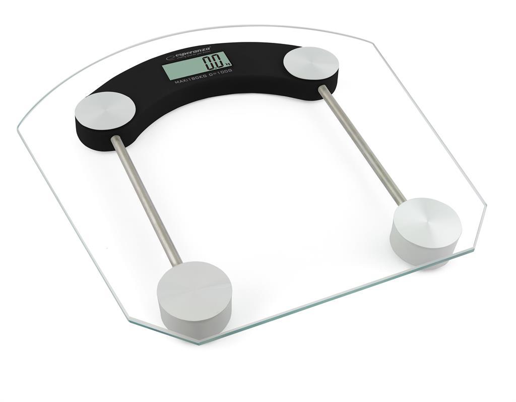 Esperanza EBS008K PILATES osobní digitální váha, skleněná, černá
