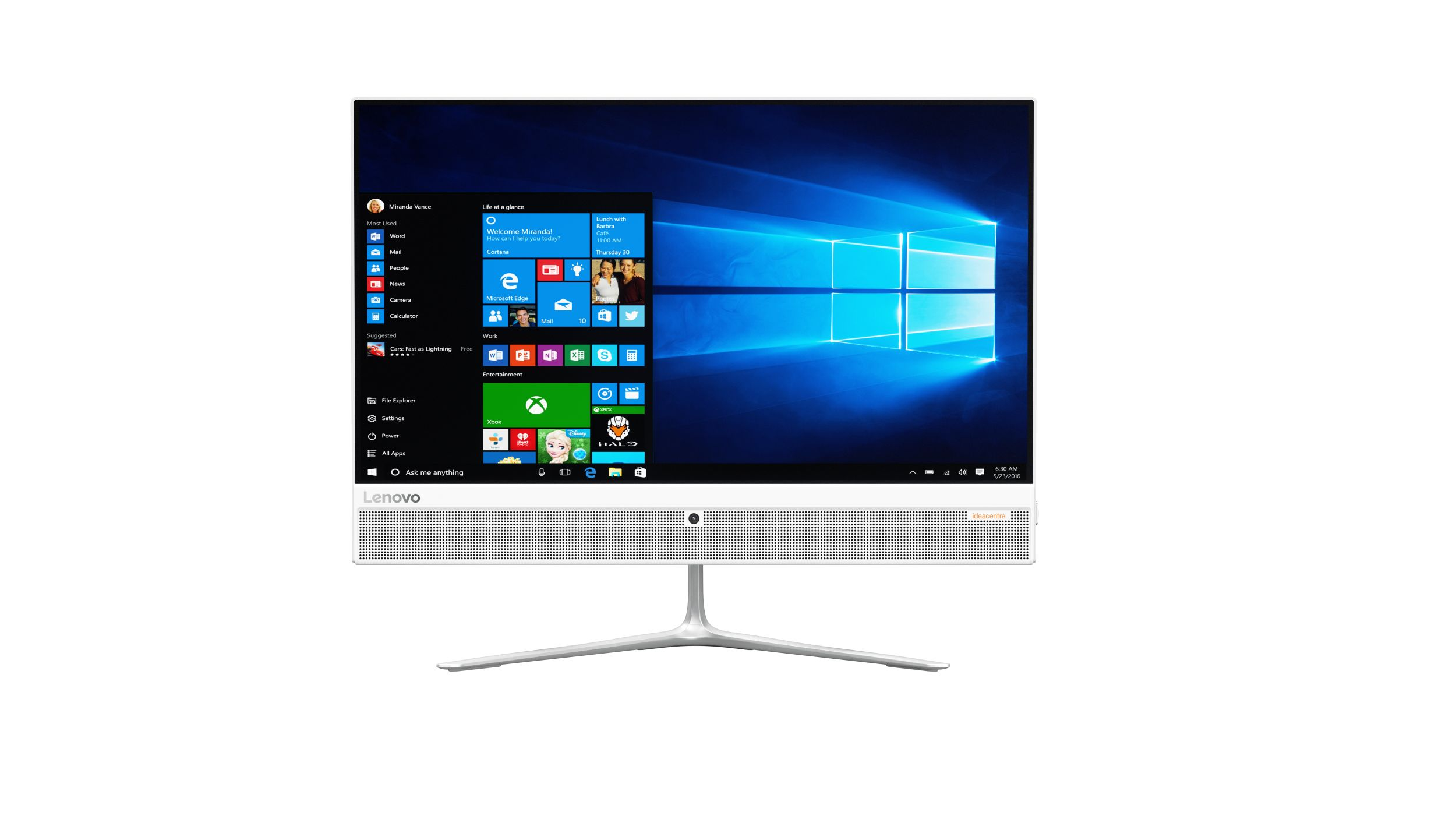 "Lenovo IdeaCentre AIO 510-23ISH WHITE i3-6100T 3,20GHz/4GB/1TB/23"" FHD/IPS/DVD-RW/WIN10 F0CD0047CK"