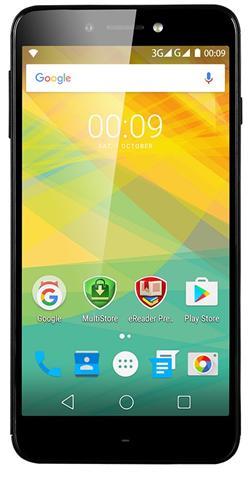 """PRESTIGIO Grace Z5, 5.3"""" HD IPS 2.5D, Dual SIM, Android 6.0, Quad Core 1,3GHz, 1280*720, 8GB ROM,1GB RAM, 13Mpx, černý"""