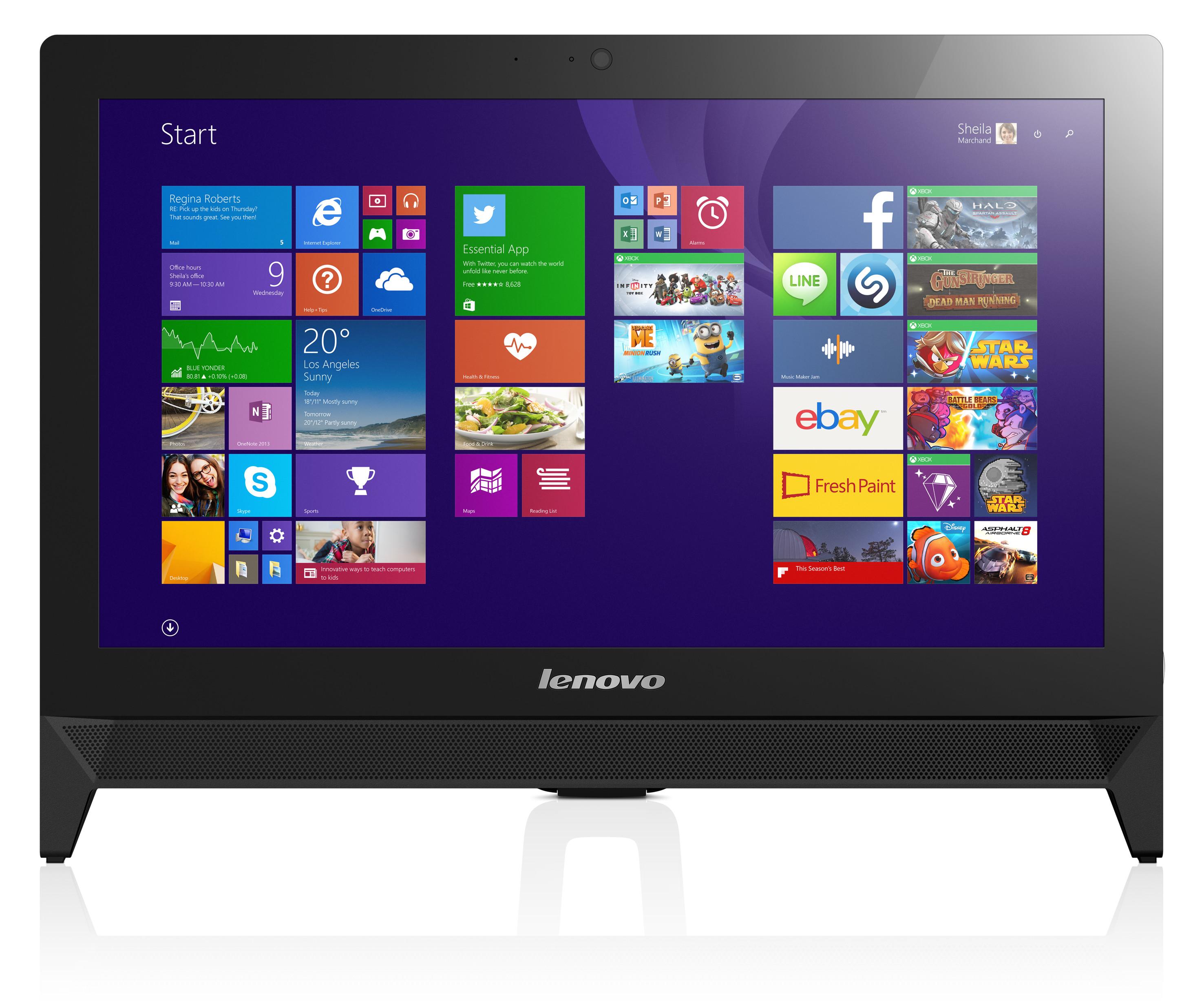 """Lenovo IdeaCentre AIO C20-00 Celeron J3060 2,48GHz/2GB/500GB/19,5"""" FHD/multitouch/DVD-RW/DOS černá F0BB00VVMK"""