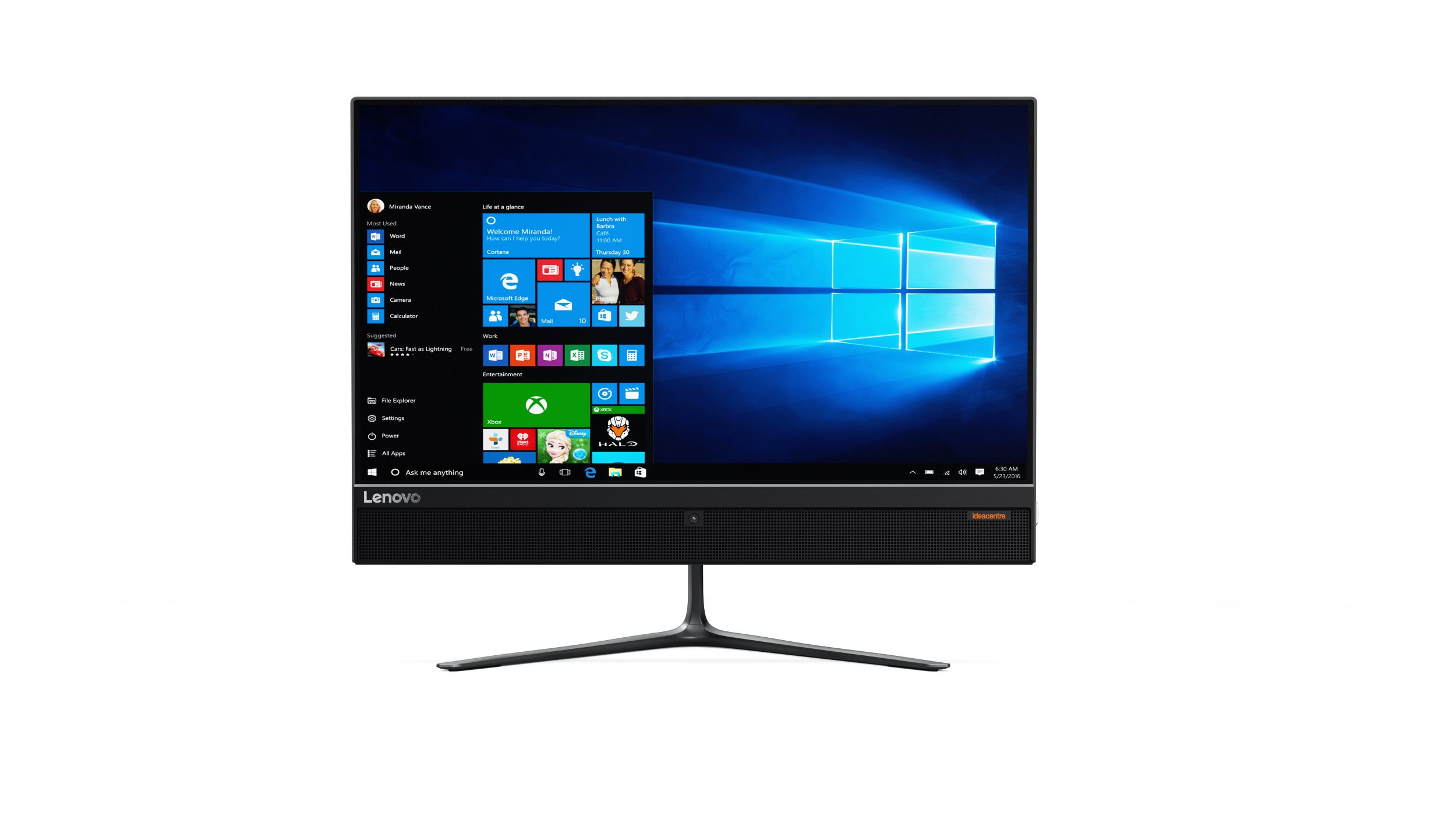 "Lenovo IdeaCentre AIO 510-23ISH BLACK Pentium G4400T 2,9GHz/4GB/1TB/23"" FHD/IPS/DVD-RW/WIN10 F0CD0044CK"