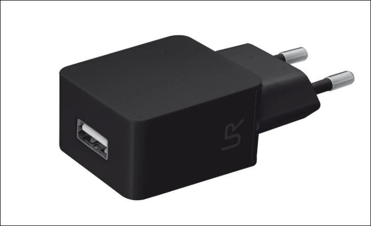 Smartphone Wall Charger - black