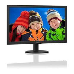 "Philips 243V5QHABA/00 MVA 23.6"" LED 1920x1080 10 000 000:1 8ms 250cd HDMI DVI repro cierny"