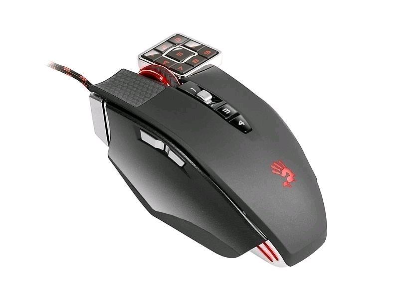 A4tech Bloody ML160, Commander Game Laser mouse, 8200dpi, 160K paměť, 17 tlačítek, černá, USB, CORE 3