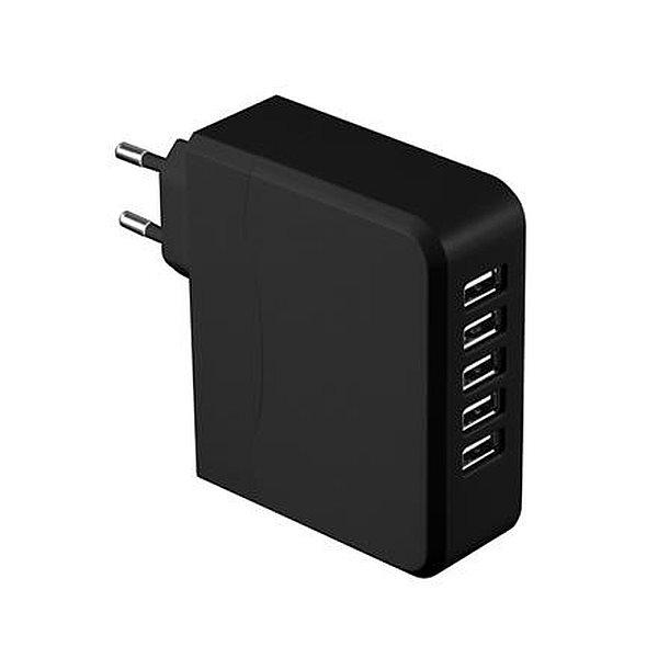 PLATINET 5-portová USB nabíječka 6,8A černá