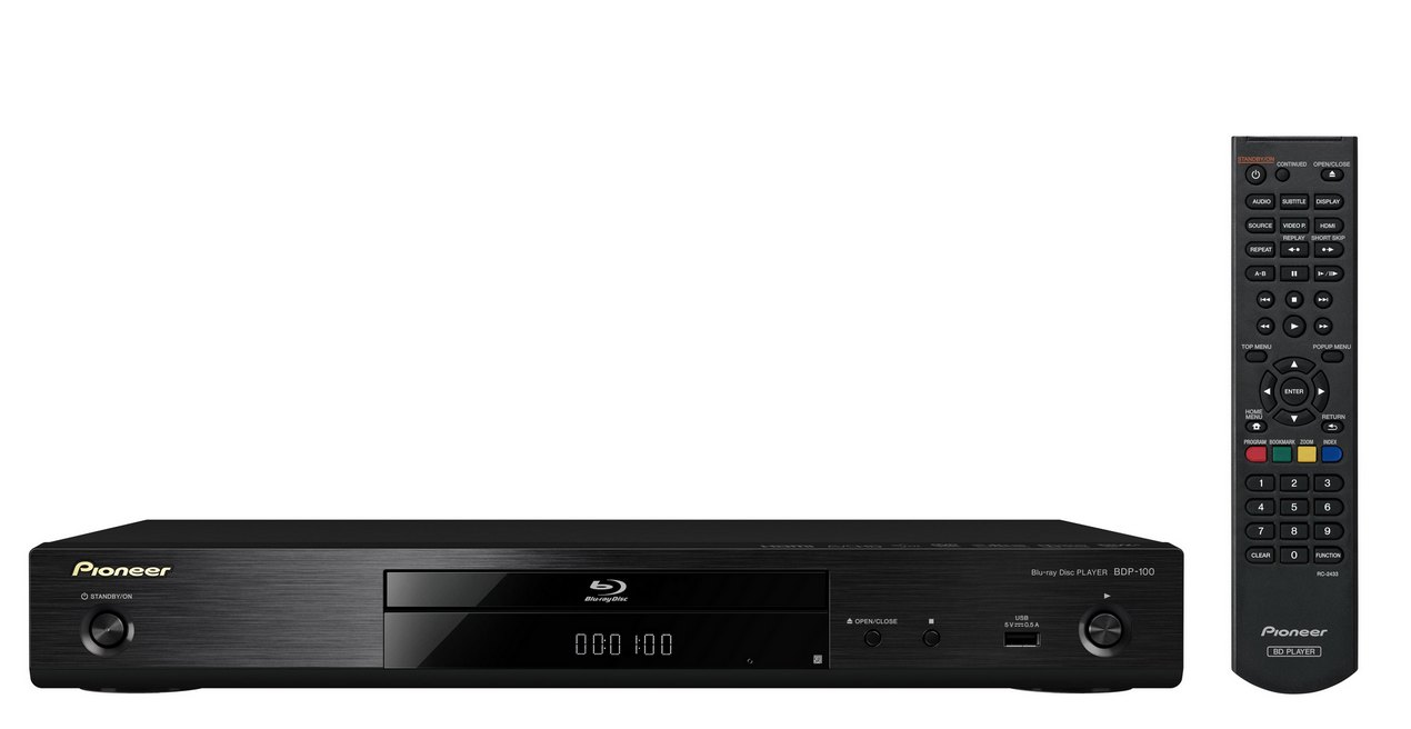 Pioneer Blu-ray přehrávač,DVD,CD,WAV,DivXHD černý