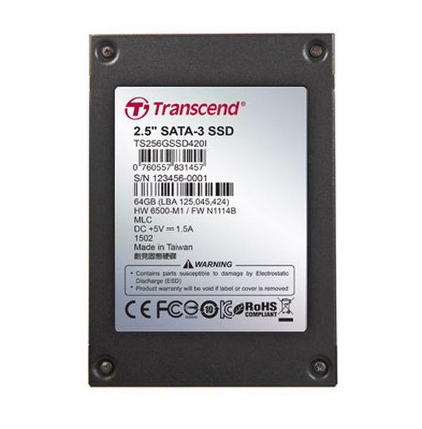 "TRANSCEND SSD420I 256GB Industrial SSD disk2.5"" SATA3, MLC, Ind., Iron case, černý"