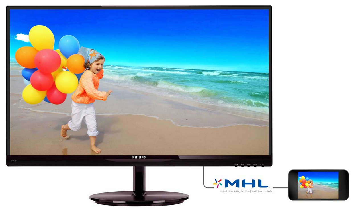 "27"" LED Philips 274E5QHSB-FHD,IPS,HDMI,slim"