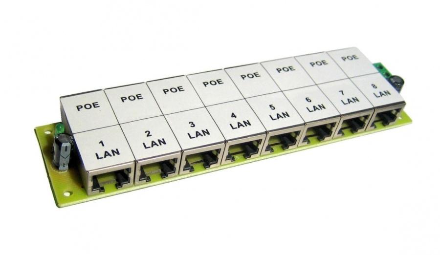 POE-PAN8 8-portový pasivní POE panel