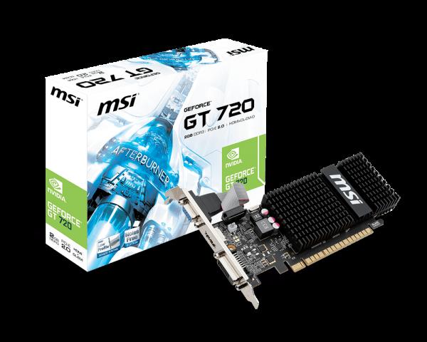 MSI GeForce GT 720, 2GB DDR3 (64 Bit), HDMI, DVI, D-Sub