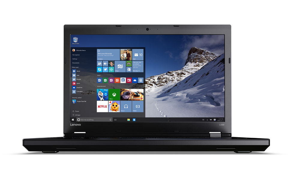 """Lenovo ThinkPad L560 i5-6200U/8GB/256GB SSD/HD Graphics 520/DVD±RW/15,6""""FHD IPS/W10PRO/Black"""