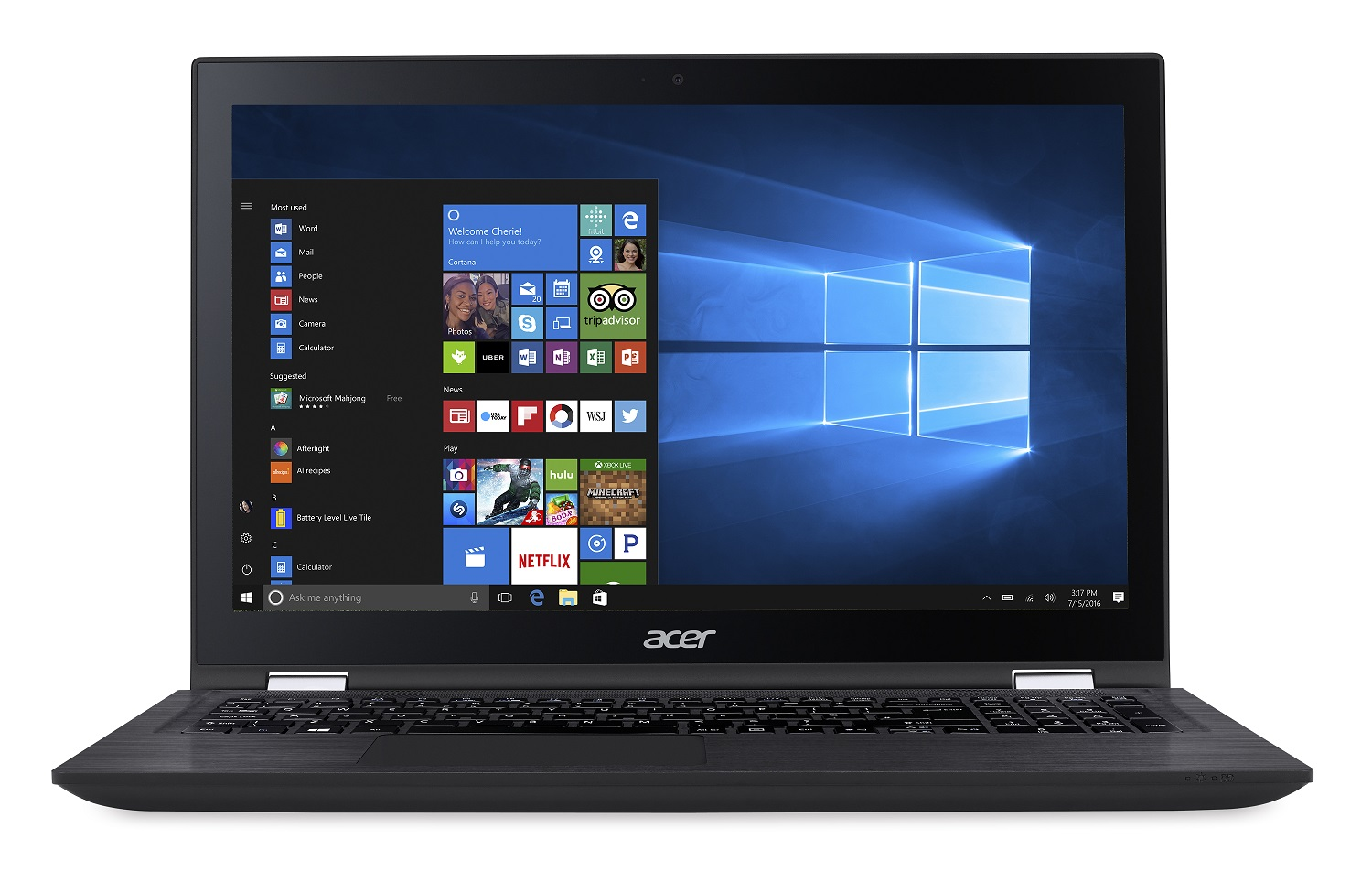 """Acer Spin 3 (SP315-51-38T2 i3-6100U/4GB+N/256GB SSD M.2+N/HD Graphics/15.6"""" FHD Multi-Touch/BT/W10 Home/Black"""