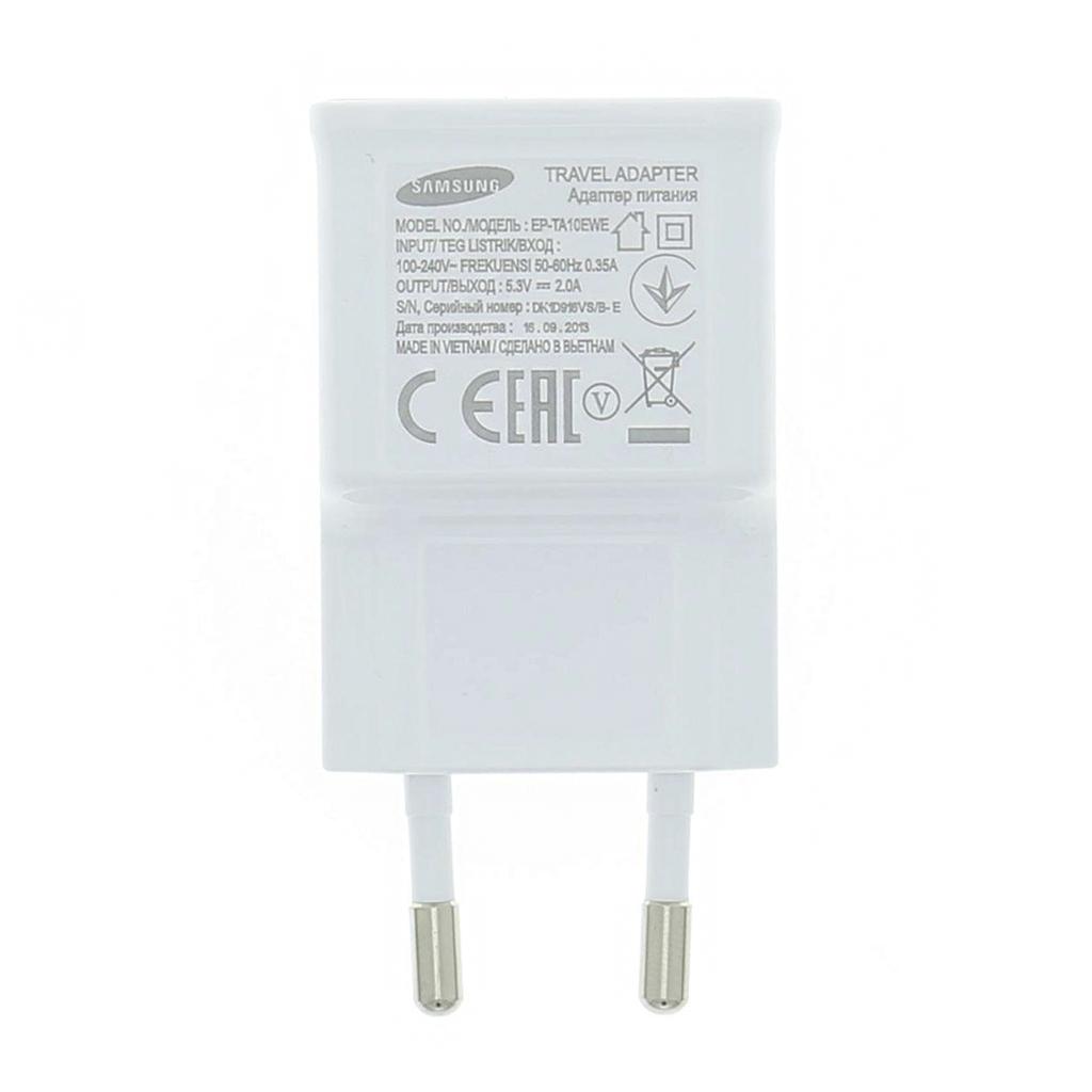 Samsung USB EP-TA10EWE dobíječ bez kab. White Bulk