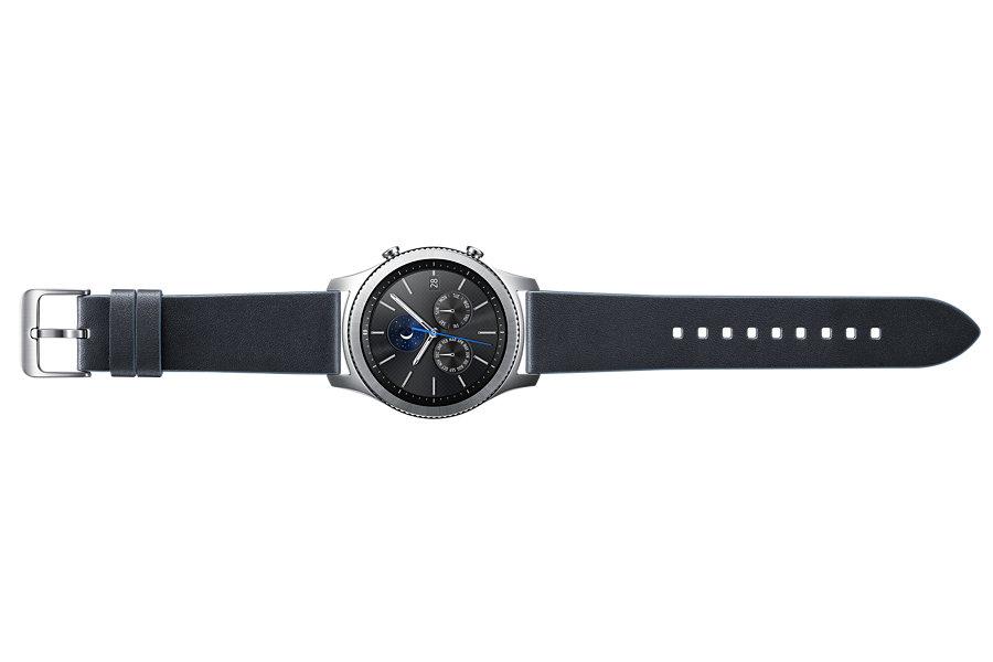 Samsung výměnný pásek kožený Gear S3 , Navy Blue
