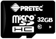 Pretec MicroSDHC 32 GB CLASS 10 + SD adaptér