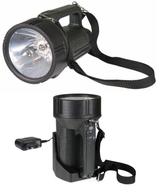 Emos LED svítilna nabíjecí 3810 Expert, 12x LED + Halogen/Krypton, voděodolná, nabíjecí držák