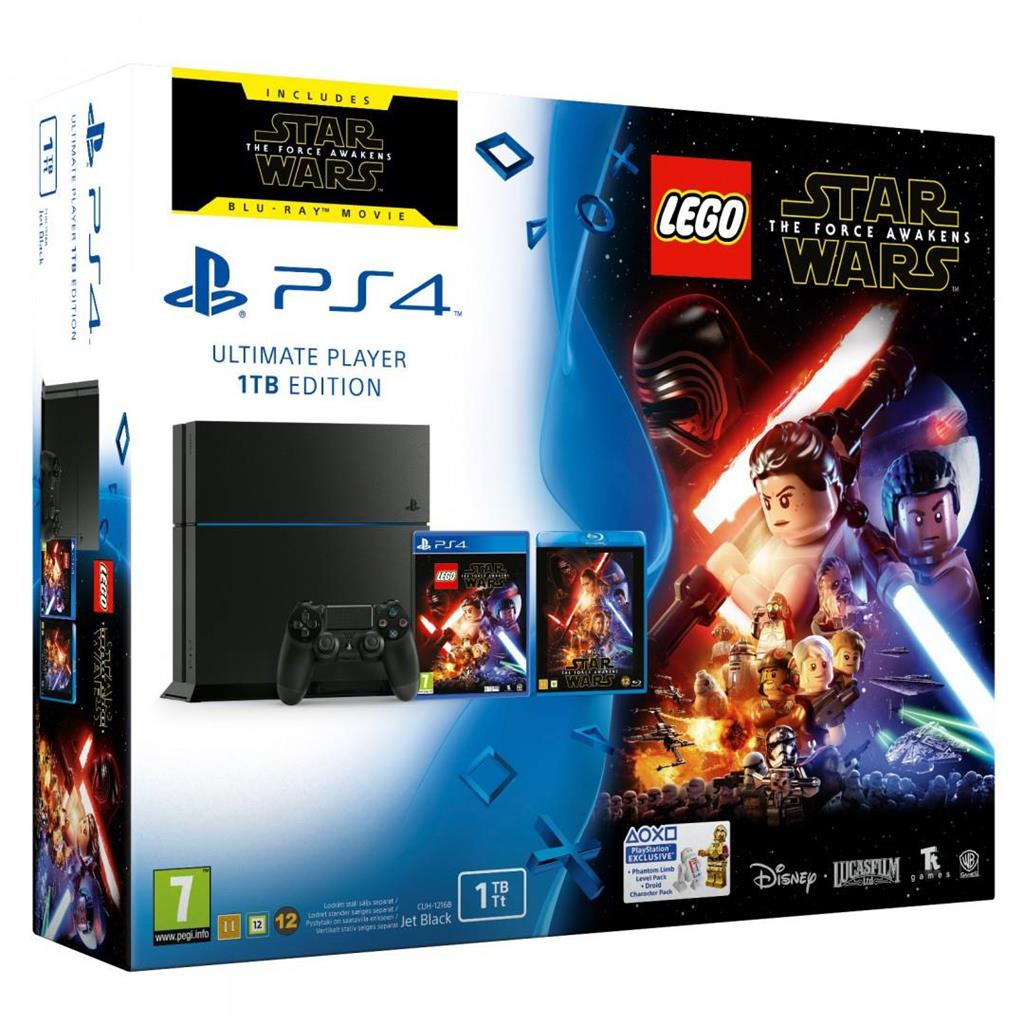 Sony PS 4 1TB + LEGO Star Wars: The Force Awaken + Film Star Wars on Blu-ray