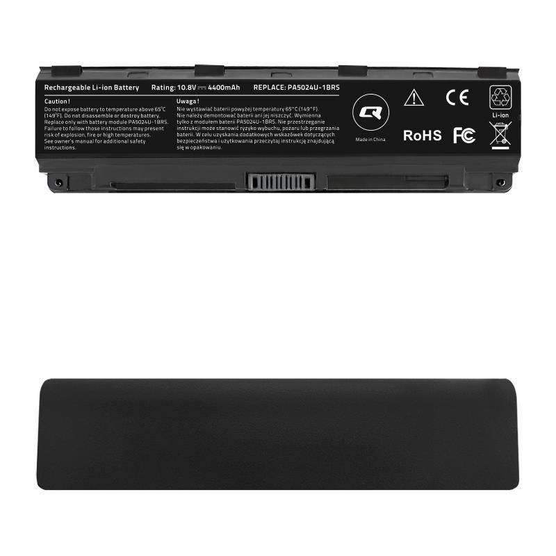 Qoltec Long Life baterie pro notebooky Toshiba C50D C55, 11.1 V   4400 mAh