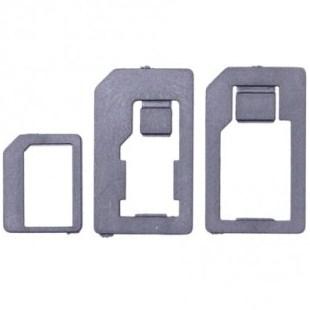GT SIM adaptér 3v1 (nano-SIM/micro-SIM/SIM), černý