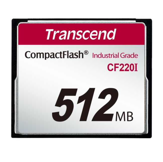 Transcend 512MB INDUSTRIAL TEMP CF220I CF CARD (SLC) Fixed disk and UDMA5