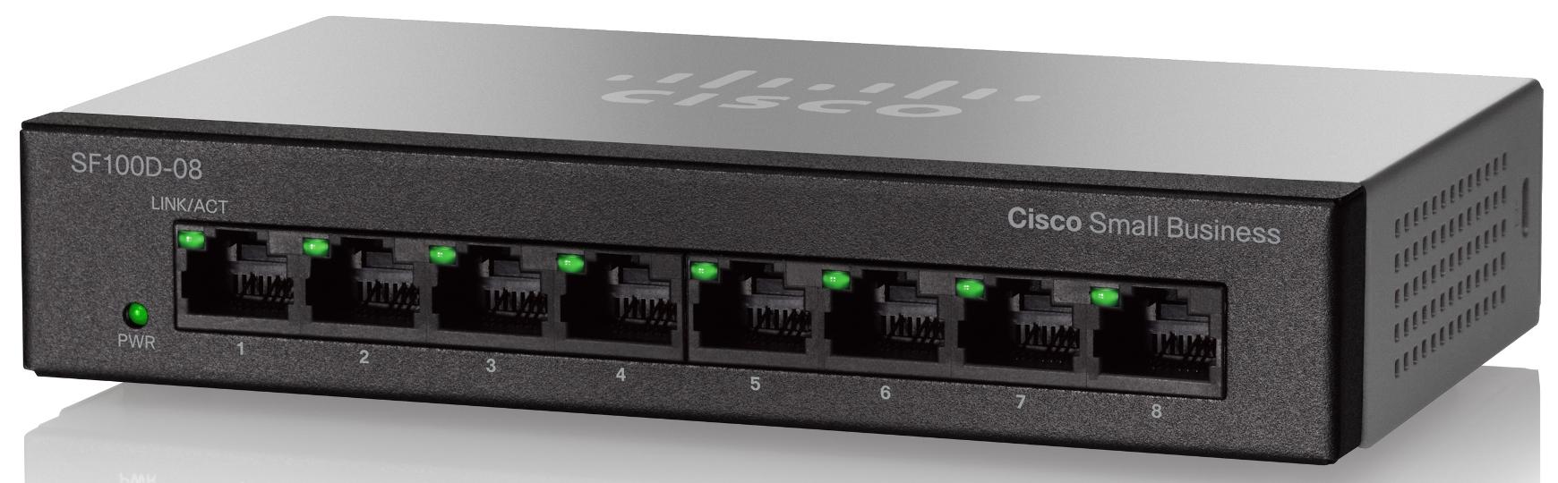 Cisco SF100D-08, 8x10/100 Switch (SF100D-08-EU)