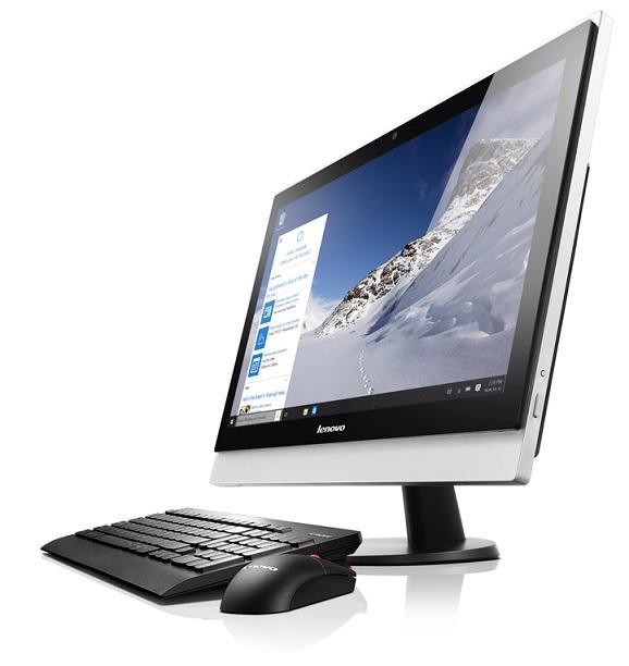 "Lenovo AIO SMB S500z 23"" FHD/i3-6100U/4GB/8GB+1TB SSHD/Integrated/DVD-RW/Monitor/Win10"