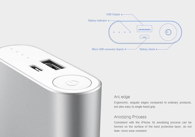 BAZAR_Xiaomi Power Bank 10000 mAh, silver