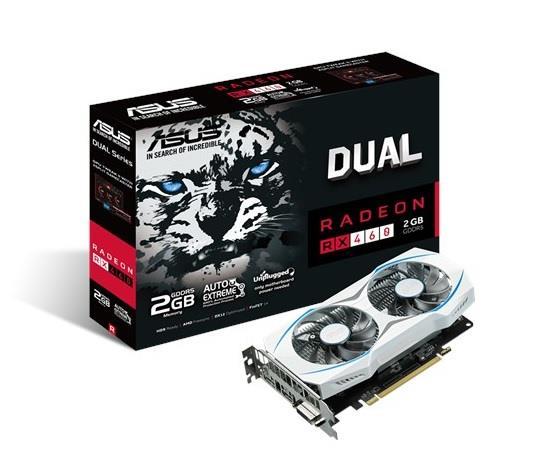 ASUS Radeon Dual RX 460, 2GB GDDR5, PCI Express 3.0